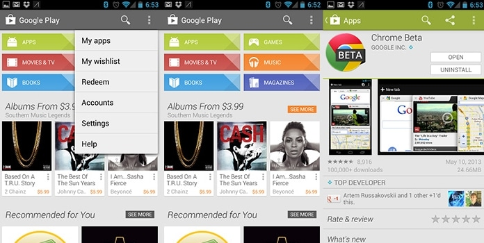 Play Store para iPhone